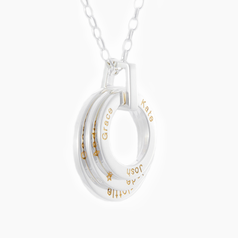 Eternal loops engraved with your loved ones names