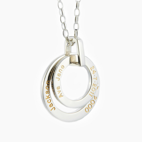 18ct gold filled engraved loops with baby names NZ