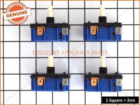 4 X WESTINGHOUSE CHEF SIMPSON ELECTROLUX COOKTOP SIMMERSTAT SWITCHES MP-101 PART # 0534001654