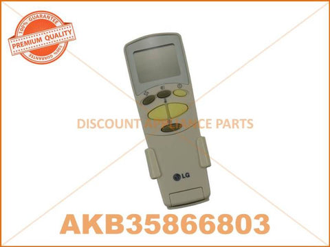 LG AIR CONDITIONER REMOTE CONTROL PART # AKB35866803 # 6711A90032N # AKB74375404