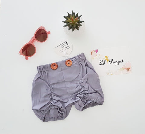 Grey Button shorts
