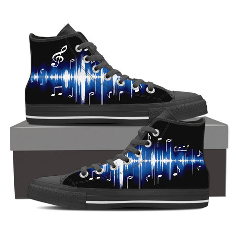 Image of Mens High Blue Music High Canvas Shoes