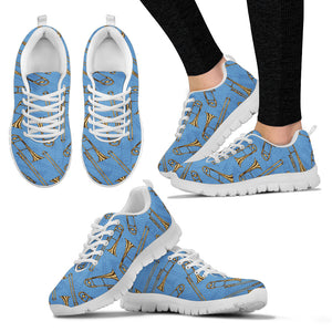 Womens Sneakers. Trombone Design Shoes.
