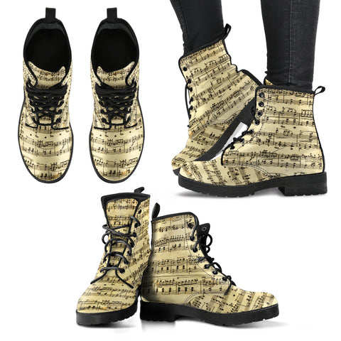 Sheet Music Shoes. Womens Leather Boots EXPRESS Delivery