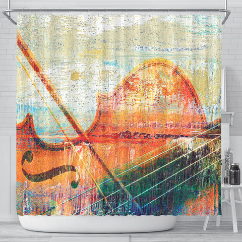 Music Violin Art Shower Curtain