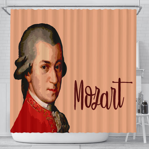 Mozart Music Shower Curtain