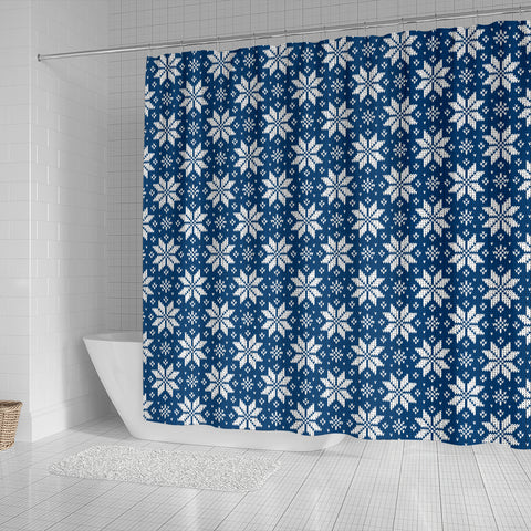 Norwegian Knitting Art Design Shower Curtain