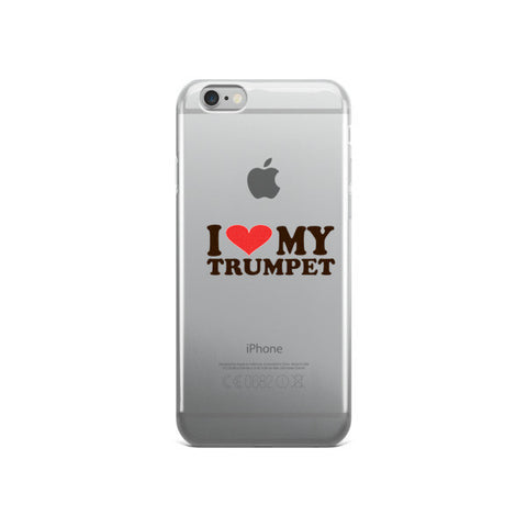 Image of I Love My Trumpet, iPhone case