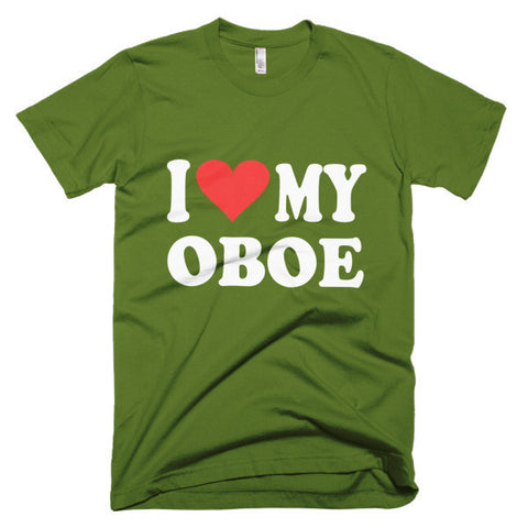 Image of I Love My Oboe,  men's t-shirt