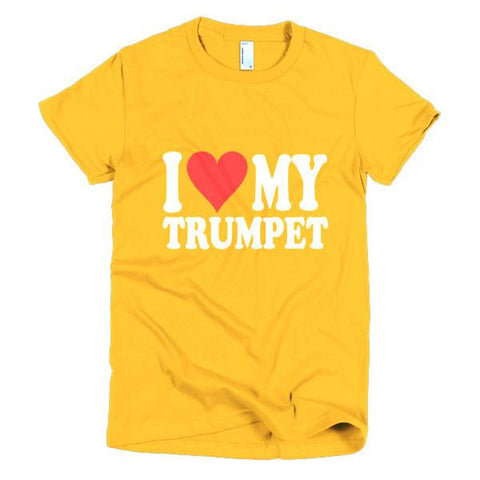 Image of I Love My Trumpet, women's t-shirt