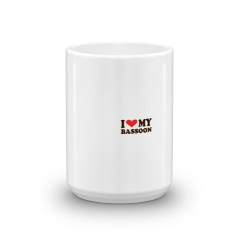 Image of I Love My Bassoon, Mug