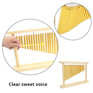 20-Tone Table Top Bar Chimes 20 Bars Single-row Musical Percussion Instrument With Wood Stand Stick