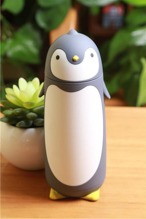 VILEAD Penguin Stainless Steel Thermos Vacuum Flasks Cartoon Thermocup Portable Thermal Insulated Mug Children Drinking Bottle