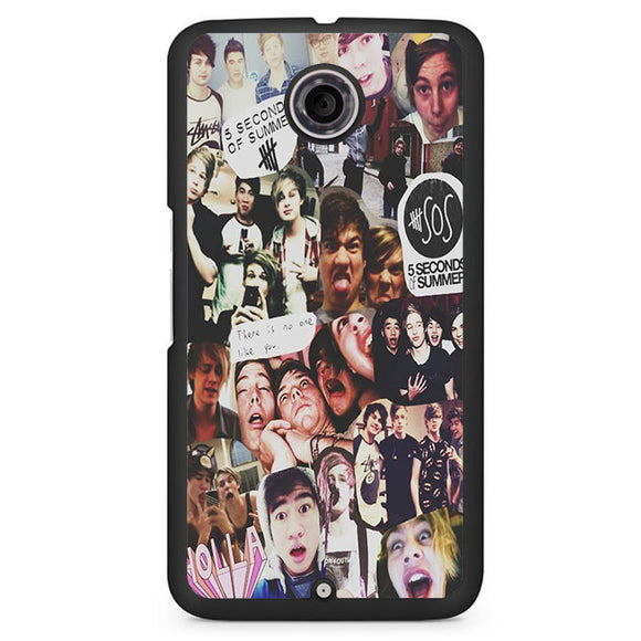 5 Sos Collage Phonecase Cover Case For Google Nexus 4 Nexus 5 Nexus 6 - tatumcase