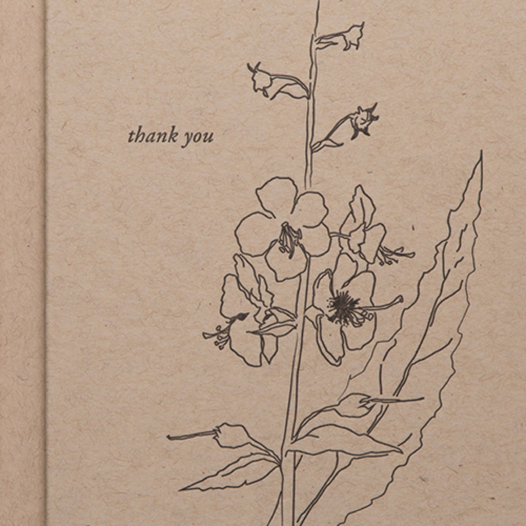 Thank You Floral Letterpress Card
