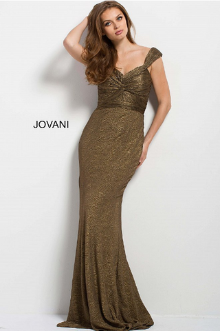 Nude Trumpet Embellished Sheer Jovani Dress 32006