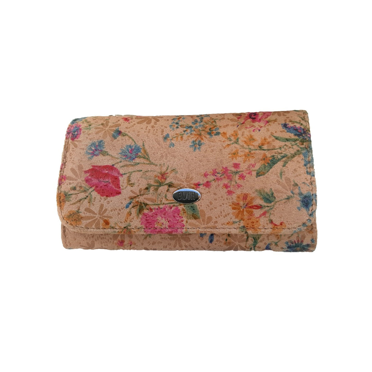 Classic Flora Design Kangaroo Leather Wallet