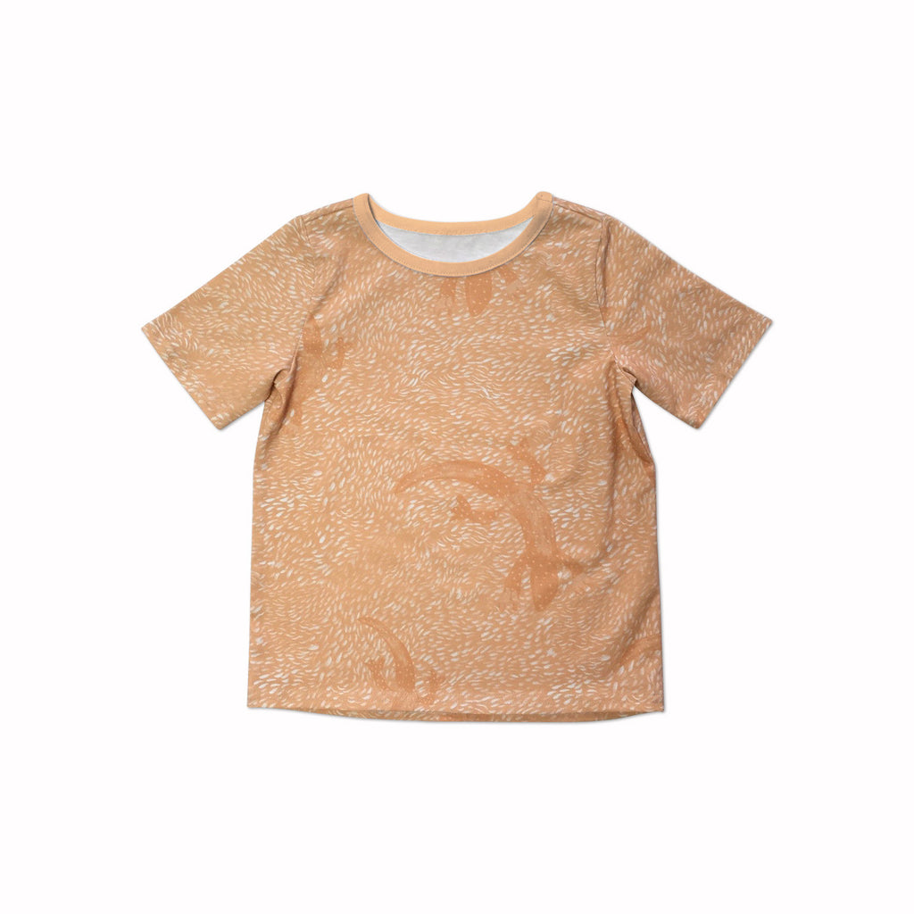 Orange lizard t-shirt