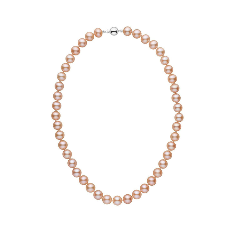 8.5-9.0 mm 16 Inch AA+ Pink to Peach Freshwater Pearl Necklace