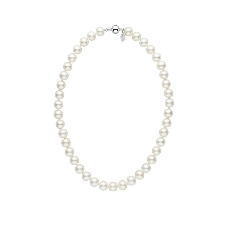 9.5-10.0 mm 16 Inch White Freshadama Freshwater Pearl Necklace
