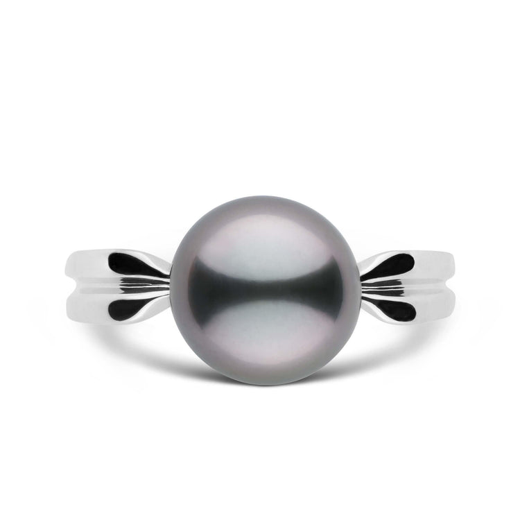 Goddess Collection 9.0-10.0 mm Tahitian Pearl Ring in Sterling Silver