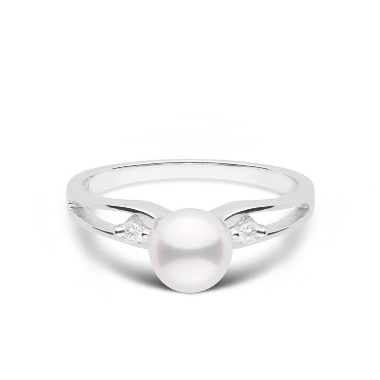 Prim Collection Akoya Pearl and Diamond Ring