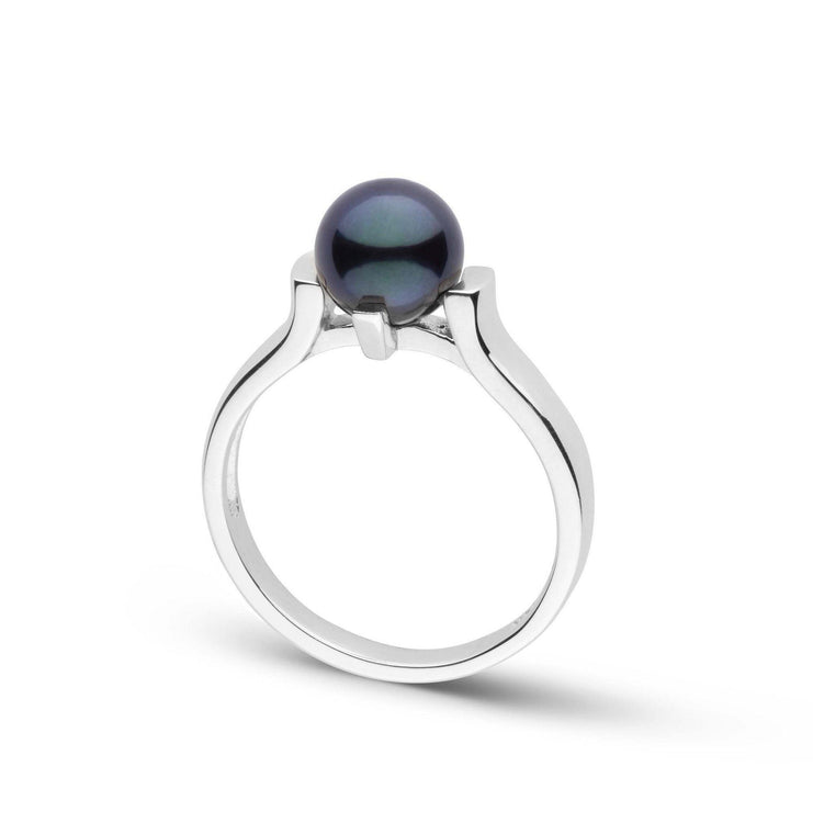 Stark Collection Black Akoya Pearl Ring