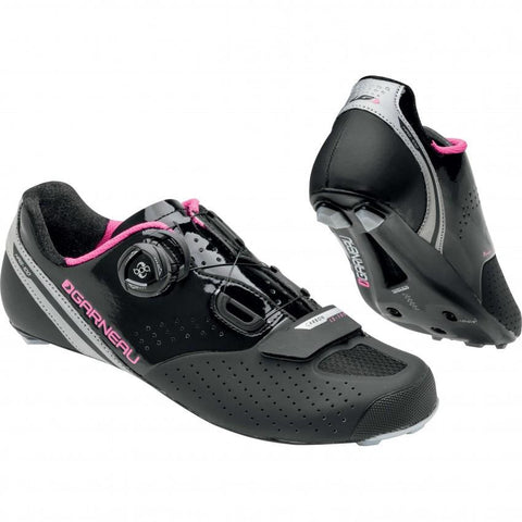 Women Carbon LS-100 II Cycling Shoes Black/Fushia