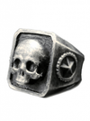 """Catacombs Skull"" Ring by Lor G Jewellery (Silver) - www.inkedshop.com"