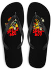 "Unisex ""Go Go"" Flip Flops by Skelly & Co (Black)"