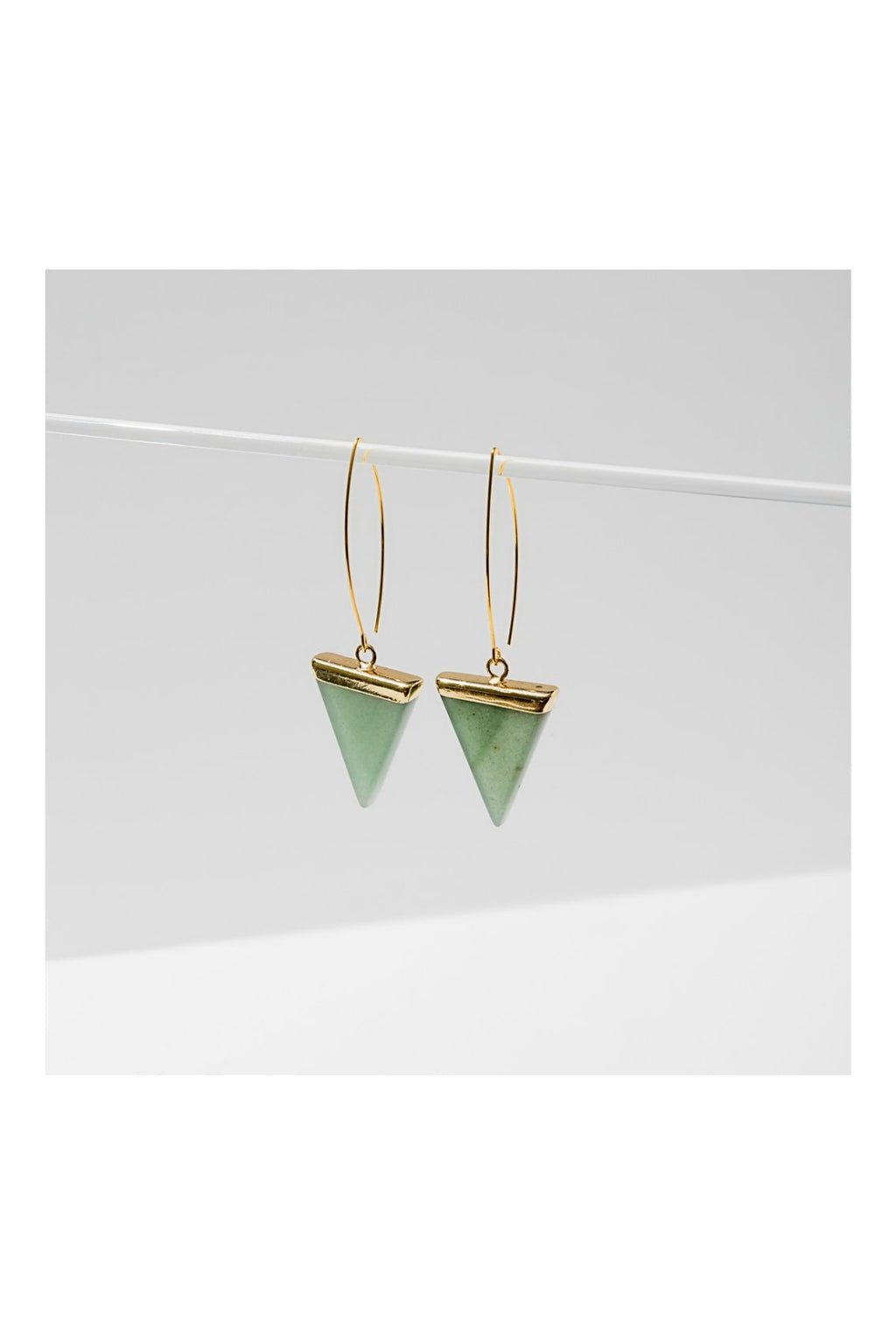 Larissa Loden Triune Earrings - Green Aventurine