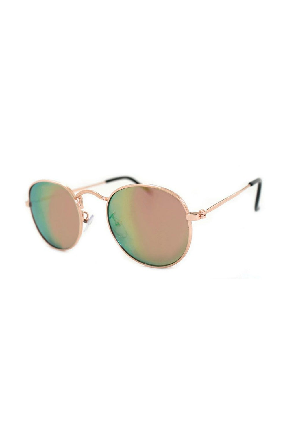 Deliverance Sunnies - Gold/Pink Mirror