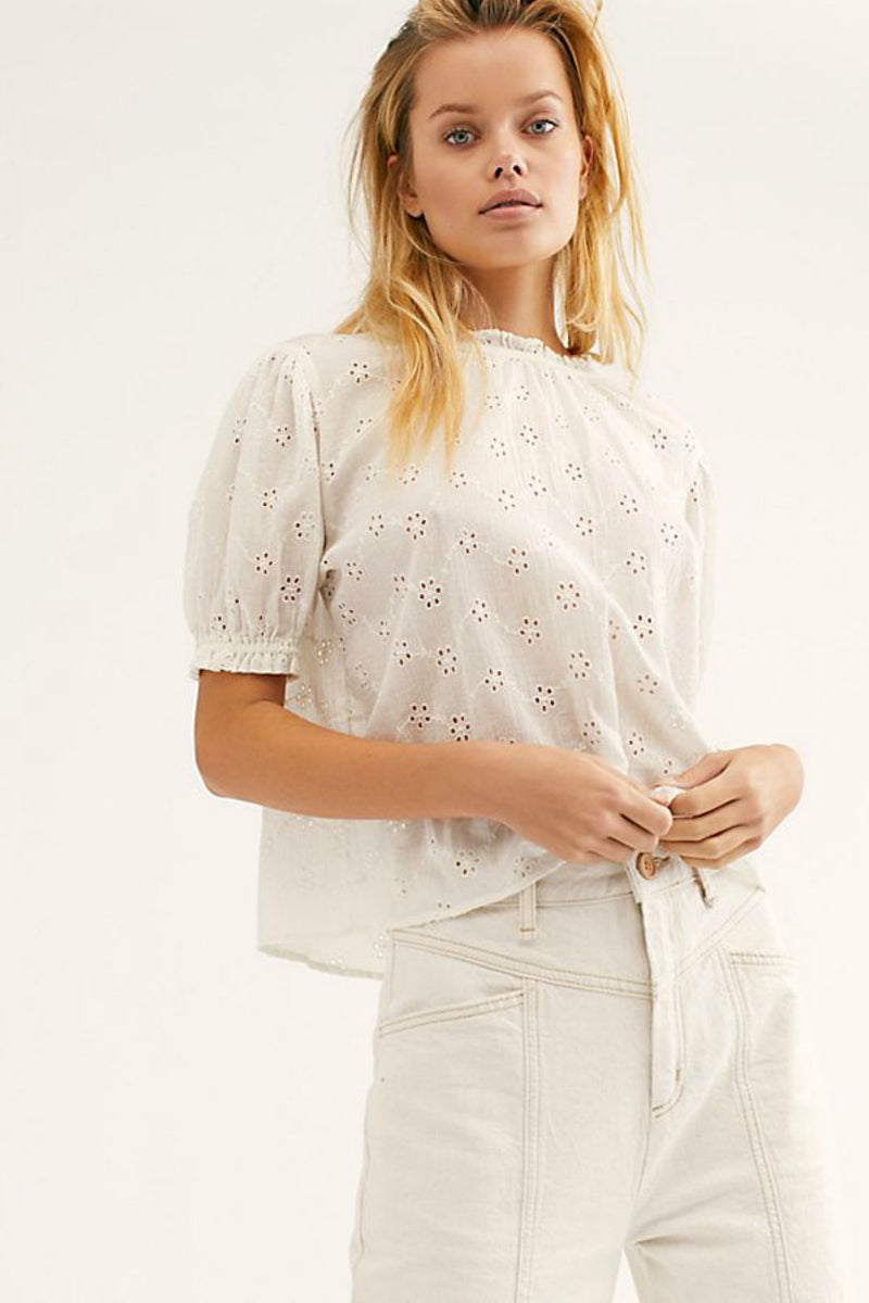 Free People Letters to Juliet Blouse in Ivory