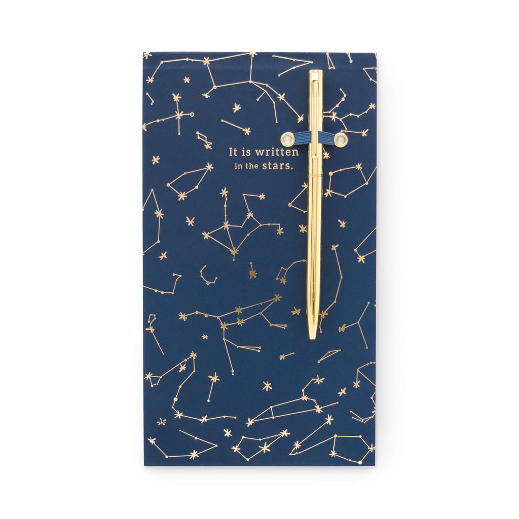 Designworks Ink Chunky Note Pad with Pen - Navy Constellations