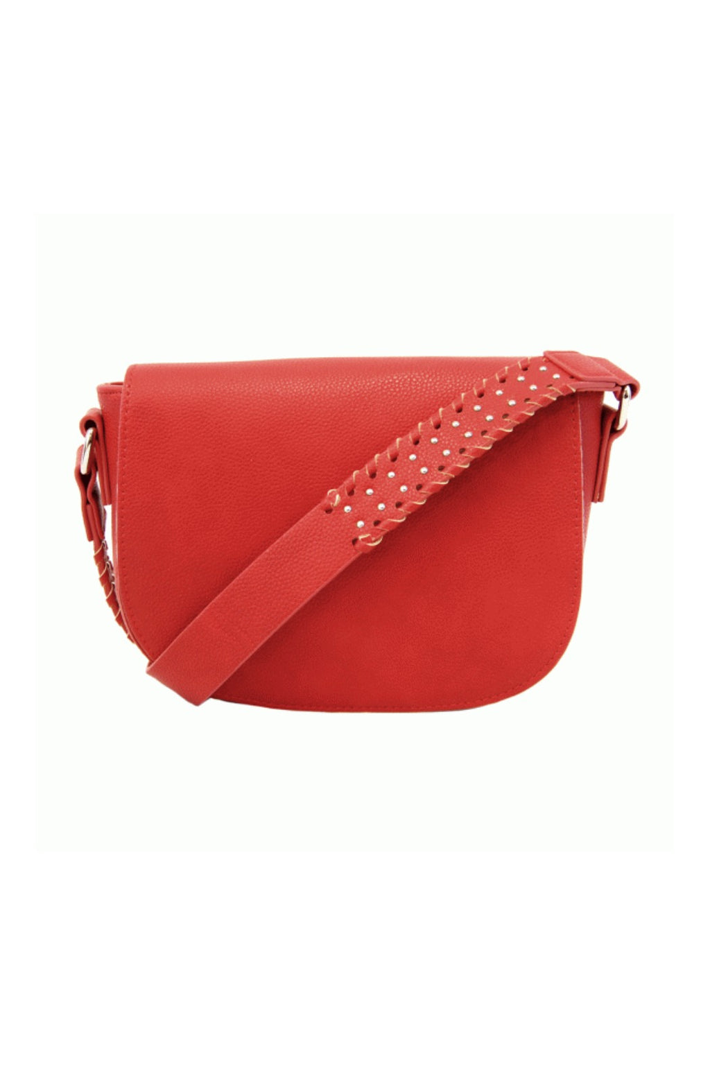 Joy Susan Arianna Guitar Strap Saddle Bag - Very Red