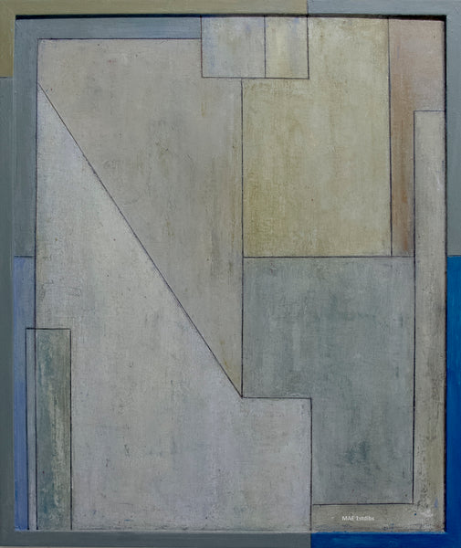 Abstract oil painting - For the Love of Diebenkorn, Study 2