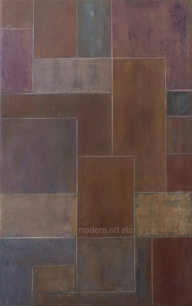 Abstract oil painting - Architectural forms - 13x21x1.75in.  Stephen Cimini