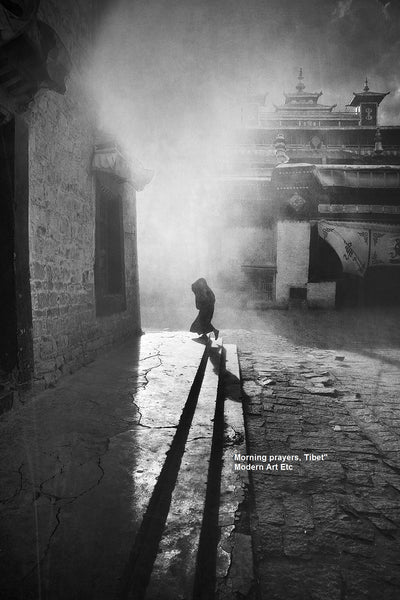 Black & White Art Photography - MORNING PRAYERS - by William Chua