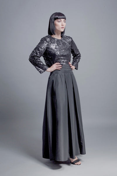 Horizontal Pleats Skirt - BUNO DESIGN