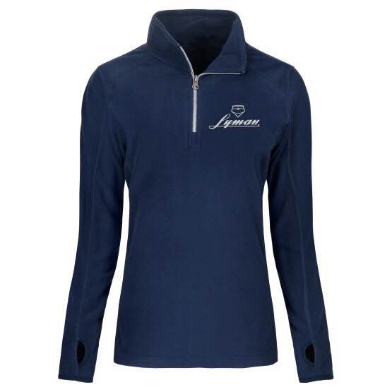 Women's Navy Fleece with White Embroidery