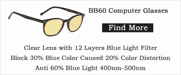 BB60 computer glasses,blue light blocking reading glasses,yellow tinted readers