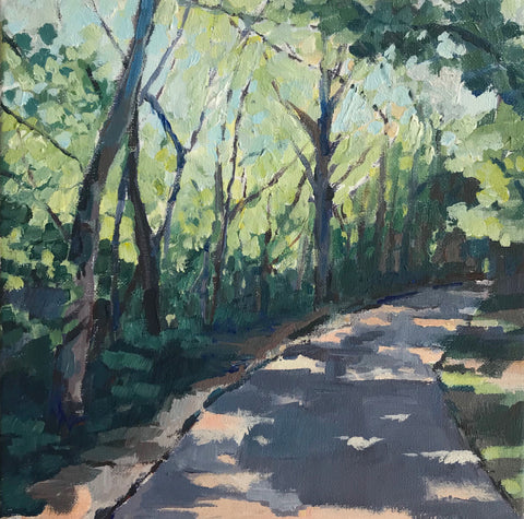 Along the Way painting Kelly Pelfrey - Christenberry Collection