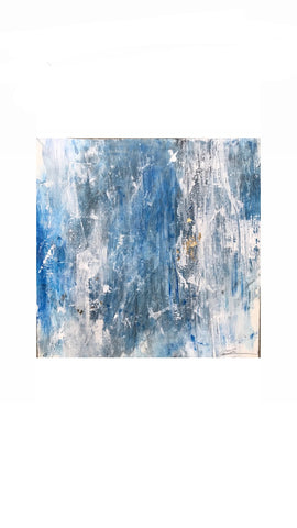 Bleu II painting Michalle Sessions - Christenberry Collection