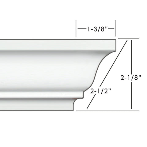 "2.5"" Easy Crown Molding 68' kit. Includes 16 inside and 4 outside corners."