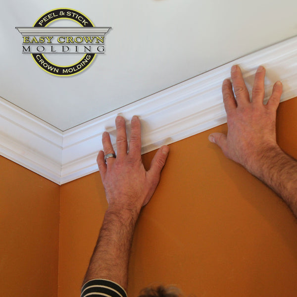 Peel & Stick Easy Crown Molding pre-cut inside crown molding corners