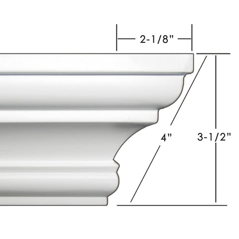 "4"" crown molding 121' kit."