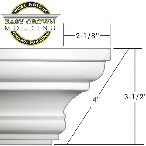 "Easy Crown Molding 4"" crown molding dimensions"