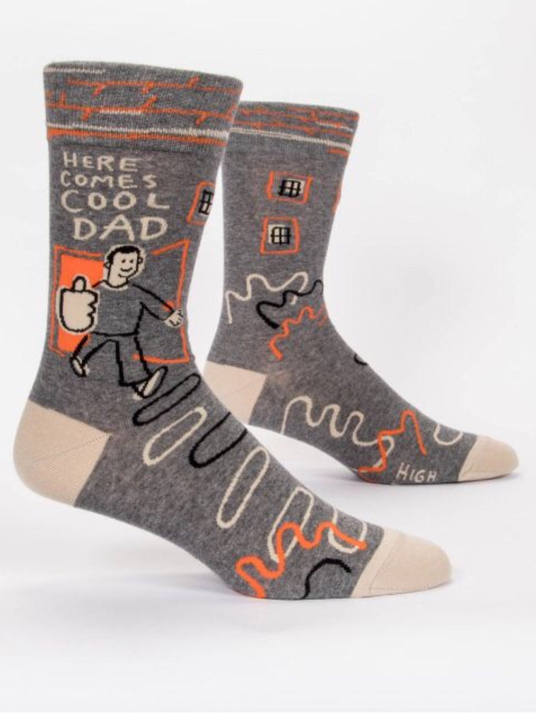 Here Comes the Cool Dad-Men's Socks