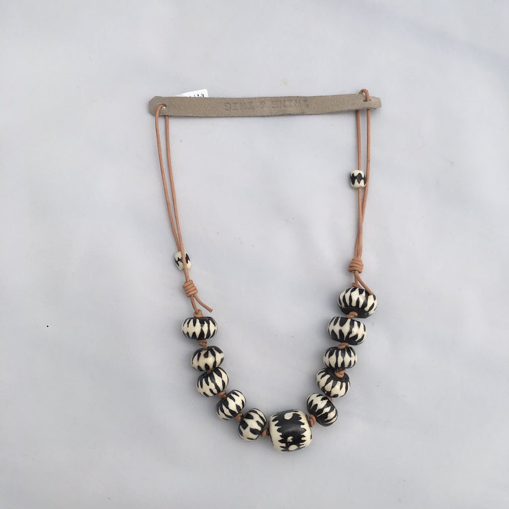 Twine & Twig- Cord Classic Necklace-Black Batik