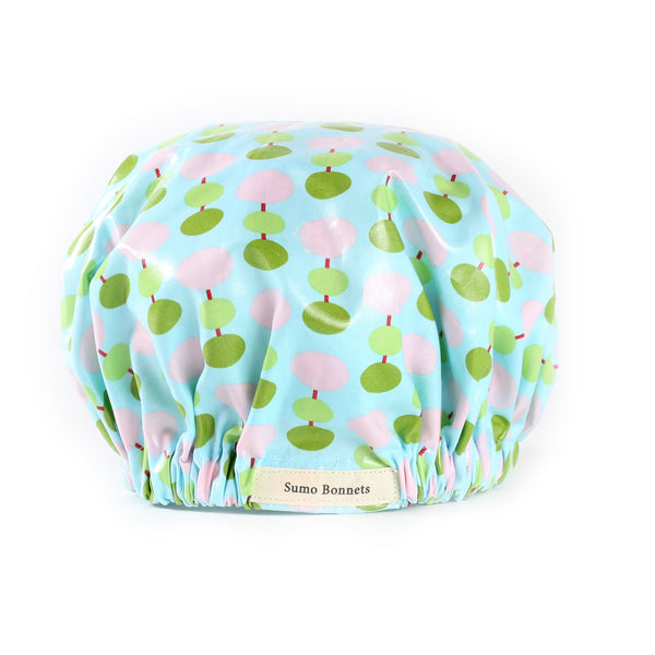 'Ada' Sky Blue Dot XL Shower Bonnet